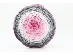 Chainy Cotton Cake ReTwisst 35 variace růžová, světle šedá, tmavě šedá