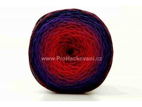 Chainy Cotton Cake ReTwisst 24 variace červená, fuchsiová, fialová