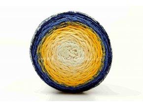 Chainy Cotton Cake ReTwisst 37 variace  žlutá, modrá
