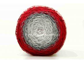 Chainy Cotton Cake ReTwisst 16 variace  bílá, šedá, červená