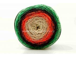 Chainy Cotton Cake ReTwisst 39 variace béžová, oranžová, zelená