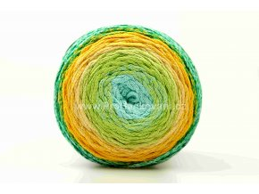 Chainy Cotton Cake ReTwisst 27 variace tyrkys, limetková, žlutá