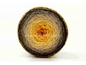 Chainy Cotton Cake ReTwisst 25 variace žlutá, krémová, hnědá