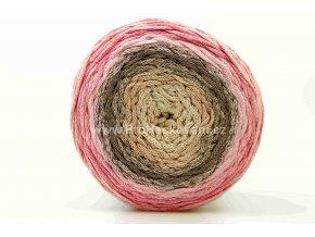 Chainy Cotton Cake ReTwisst 17 variace béžová, hnědá, růžová
