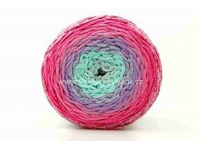 Chainy Cotton Cake ReTwisst 22 variace tyrkys, fialová, fuchsiová