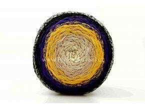 Chainy Cotton Cake ReTwisst 43 variace béžová, žlutá, fialová, černá