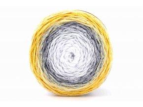 Chainy Cotton Cake ReTwisst 20 variace bílá, šedá, okrově žlutá