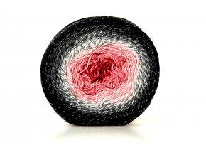 Příze Flowers Moonlight 3260 červená, růžová, šedá, černá