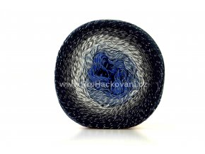 Příze Flowers Moonlight 3275 modrá, šedá, antracitová, tmavě modrá
