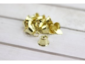 Zvoneček kovový zlatý 15 mm