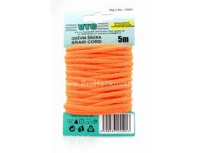 Oděvní šňůra 5 m na kartě - Neon 07 oranžová
