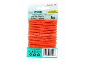 Oděvní šňůra 5 m na kartě - 08 tmavší oranžová