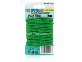Oděvní šňůra 5 m na kartě - 34 zelená