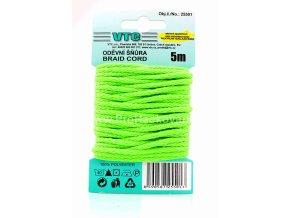 Oděvní šňůra 5 m na kartě – 35 Neon zelená