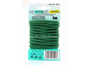 Oděvní šňůra 5 m na kartě - 36 trávová zelená