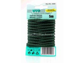Oděvní šňůra 5 m na kartě - 38 tmavě zelená