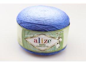 příze Bella Ombre batik 7407 odstíny modré