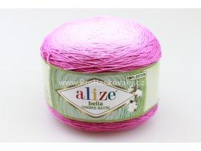 příze Bella Ombre batik 7405 odstíny růžové