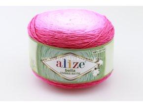 příze Bella Ombre batik 7429 odstíny fialovorůžové