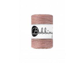 Bobbiny macrame Cord 1,5 mm Vintage béžově růžová (Blush)