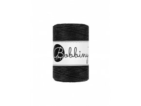 Bobbiny macrame Cord 1,5 mm Černé (Black)