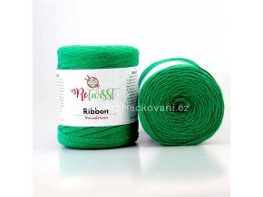 Ribbon ReTwisst 15 trávově zelená