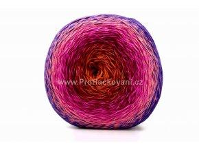 příze Floxy 9903 cihlová,vínová,tmavě a světle růžová,fialová