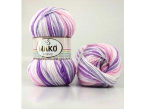 příze Lolipop 80434 bílá, růžová, fialová