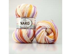 příze Lolipop 81631 bílá,oranžová,fialková