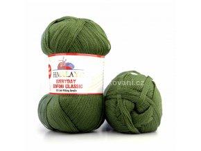 příze Everyday Senfoni Classic 71118 olivově zelená