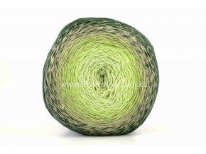 příze Floxy 9925 limetkově zelená, písková, tmavě zelená