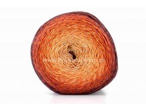 příze Floxy 9930 písková, oranžová, rezavá
