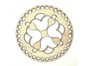 Víko na košík ozdobný reliéf č. 1 kruh Ø 15 cm