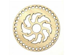 Víko na košík ozdobný reliéf č. 3 kruh Ø 15 cm