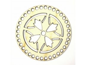 Víko na košík ozdobný reliéf č. 5 kruh Ø 15 cm