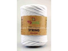 Macrame String 5 mm 01 bílá