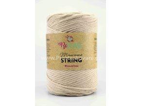 Macrame String 5 mm 08 béžová