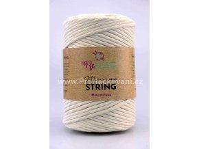 Macrame String 5 mm 00 přírodní