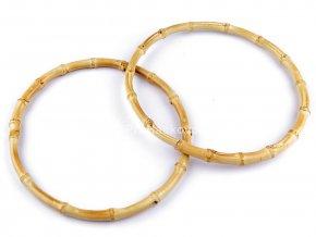 Bambusová ucha kulatá - Bambusové kruhy pro lapače snů - průměr 20 cm - světlý bambus