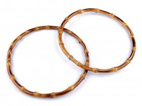 Bambusová ucha kulatá - Bambusové kruhy pro lapače snů - průměr 20 cm - tmavý bambus