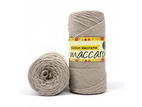 Cotton Macrame Maccaroni 25 perlová