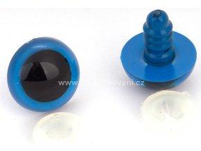 Oči bezpečnostní, modré, 12mm