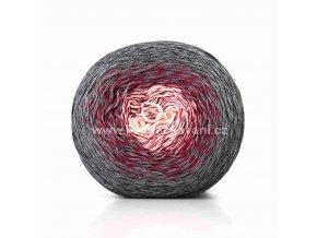 příze Floxy 9913 světle béžová, červená, tmavě šedá, černá