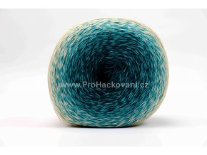 příze Floxy 9915 mořská modrá, tyrkysová, smetanová