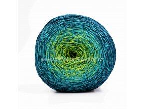 příze Floxy 9918 tmavě modrá, tyrkysová, zelená