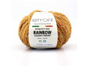 příze Rainbow Organic Merino 162 hořčicověhnědá