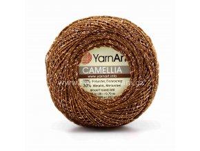 příze Camellia 422 bronzová s bronzovou nitkou