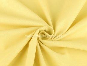 Bavlněná látka světle žlutá