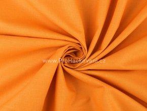 Bavlněná látka matná oranžová