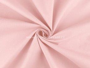 Bavlněná látka světle růžová